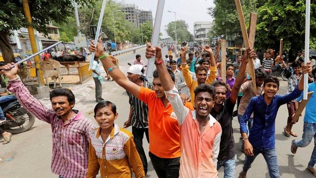 Dalit protest PTI